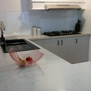 Quantum Quartz Gioia Glass painted White
